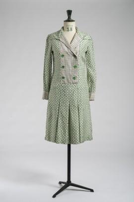 202-robe-a-pois-verts-1960-1